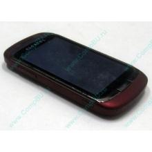 Красно-розовый телефон Alcatel One Touch 818 (Дербент)
